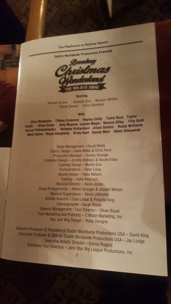 Even got named in the program!